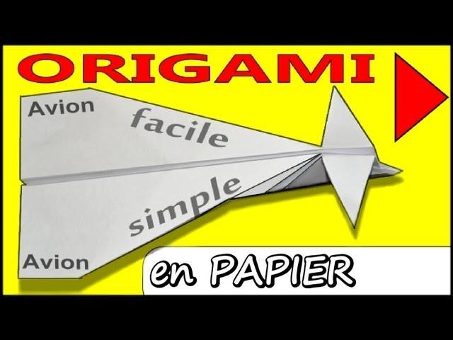 Avion En Papier Origami Planeur Qui Vole Longtemps dedans Origami Facile Avion