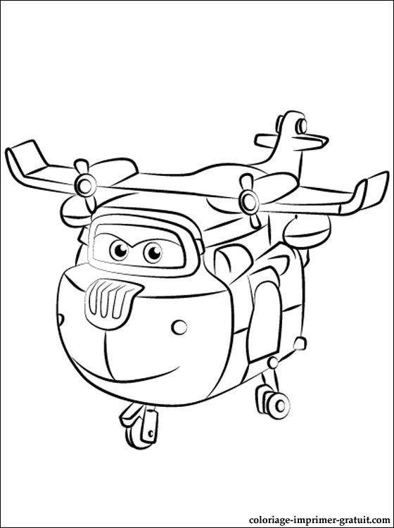 Avion Transformable Donnie | Coloriage À Imprimer Gratuit concernant Coloriage Super Wings A Imprimer Gratuit