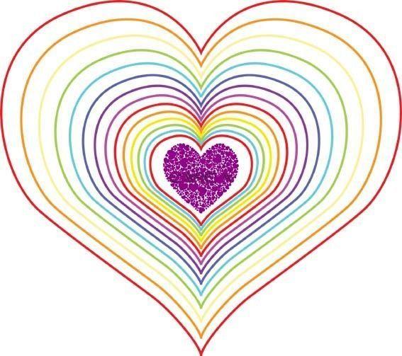 Axelle Fait Un Coeur En Arc En Ciel pour Coloriage Coeur À Imprimer Gratuit