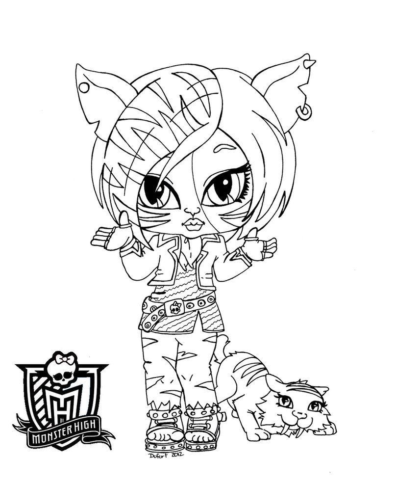 Baby Torelai Stripe By *Jadedragonne | Monster Coloring tout Dessin Monster High A Imprimer