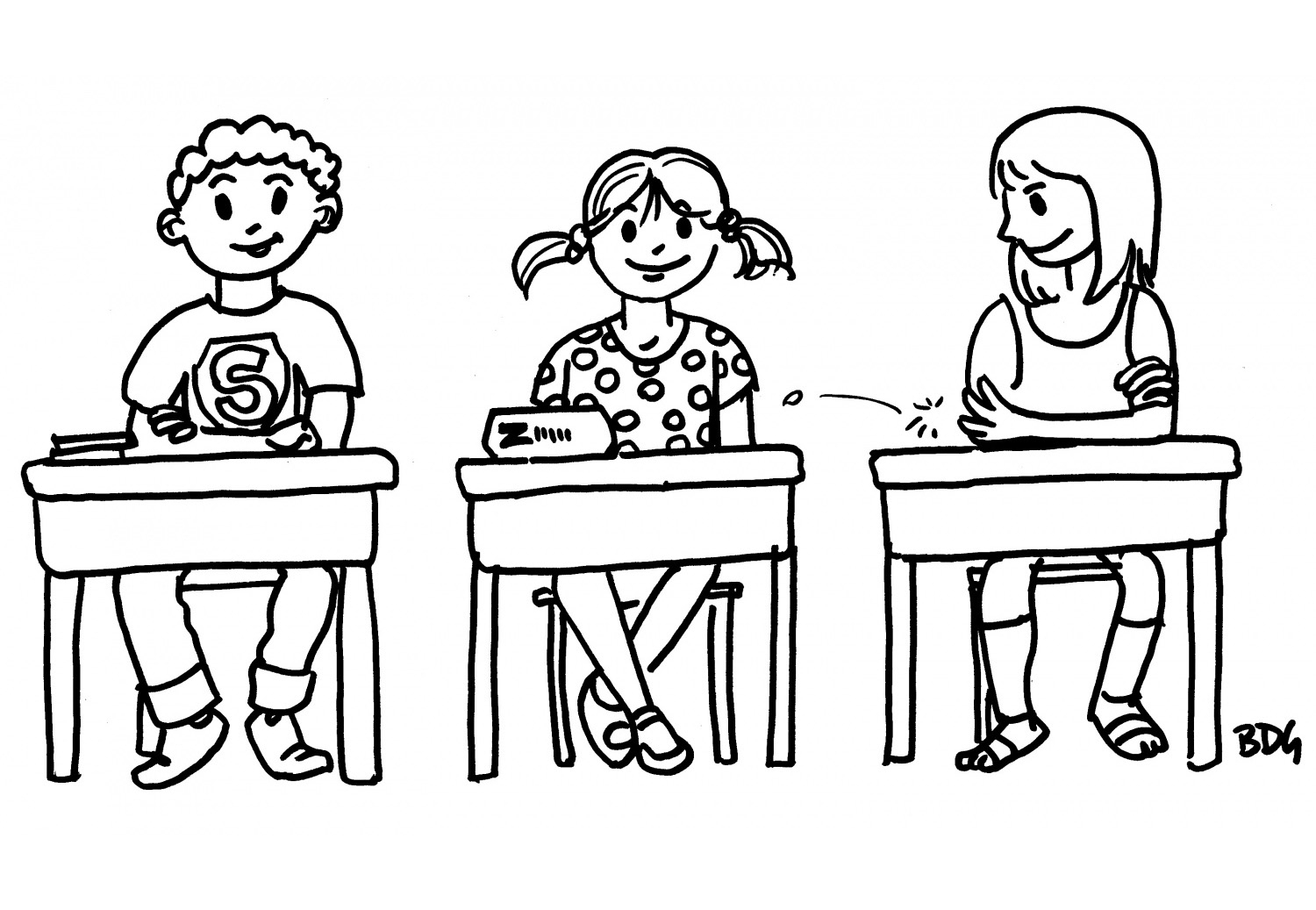 Back To School Three Children - School Coloring Pages For encequiconcerne Coloriage Rentree Scolaire Imprimer
