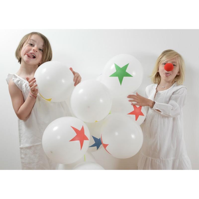 Ballons Cirque - Étoile (X8) - Maplusbelledeco serapportantà Clowns Etoile