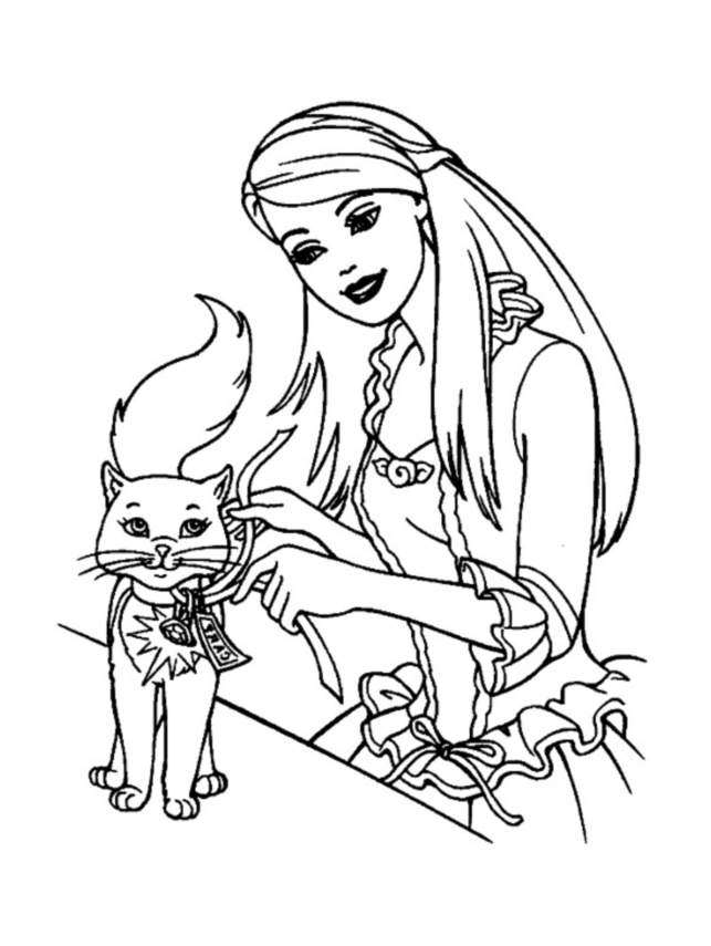Barbie 9 - Coloriages Barbie - Coloriages Enfants Biboon serapportantà Dessin De Barbie A Imprimer