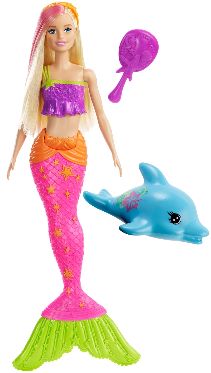 Barbie® – Poupée Barbie® Couleurs Aquatiques avec Barbie Sirene A La Plage Translation