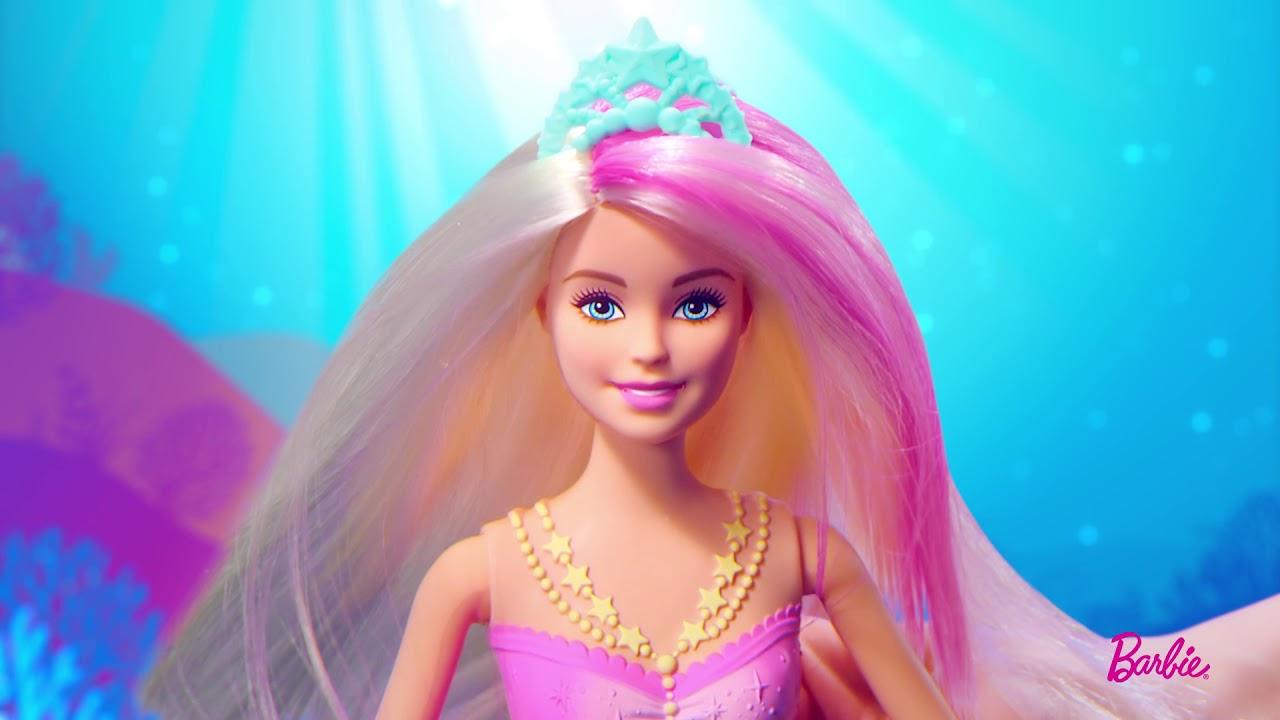 Barbie Sirène Lumières Et Danse Aquatique   Gfl82   Barbie à Barbie Sirene A La Plage