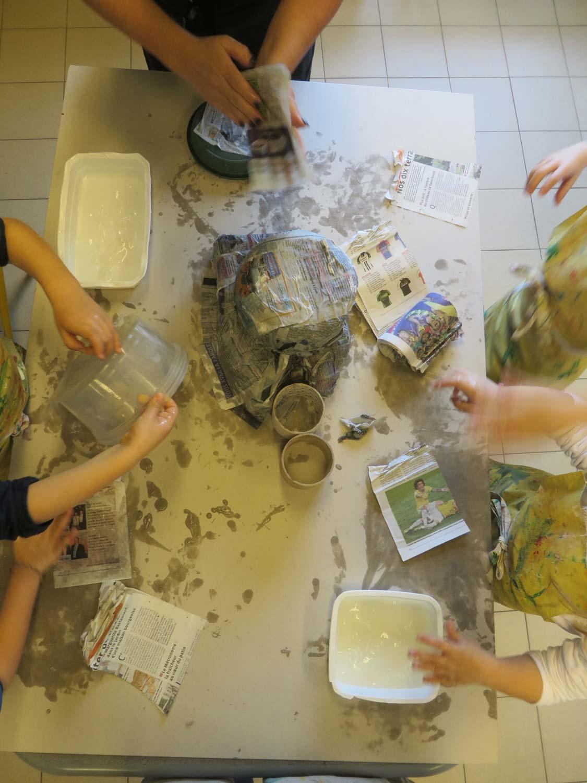 Bas-Relief Sur Le Schéma Corporel À La Maternelle encequiconcerne Objets En Papier Maché