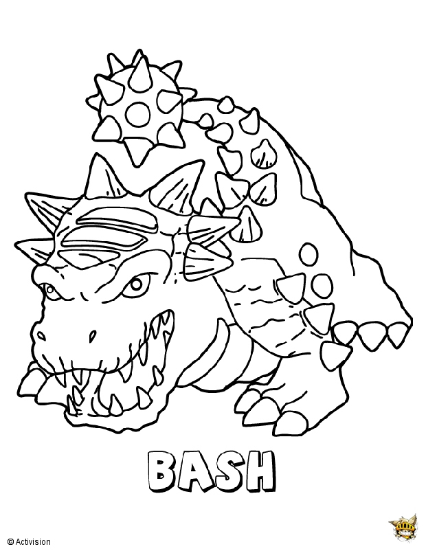 Bash Est Un Coloriage De Skylanders serapportantà Coloriage Skylanders Swap Force