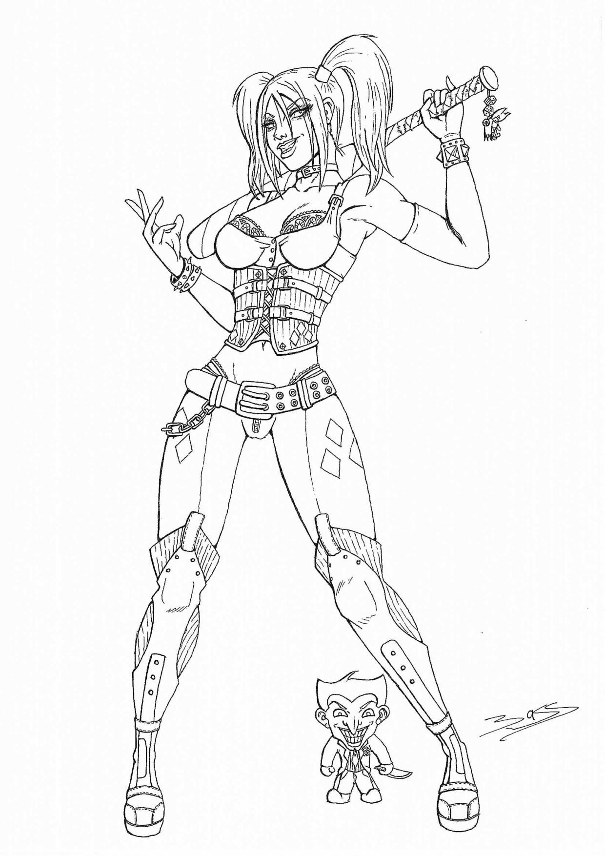 "Bass Poirier ""Harley Quinn"" - Art-Maniak dedans Coloriage Eva Queen A Imprimer"