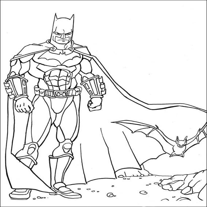 Batman Coloring Pictures Pages For Kids ~ Coloring Pictures destiné Coloriage À Imprimer Batman