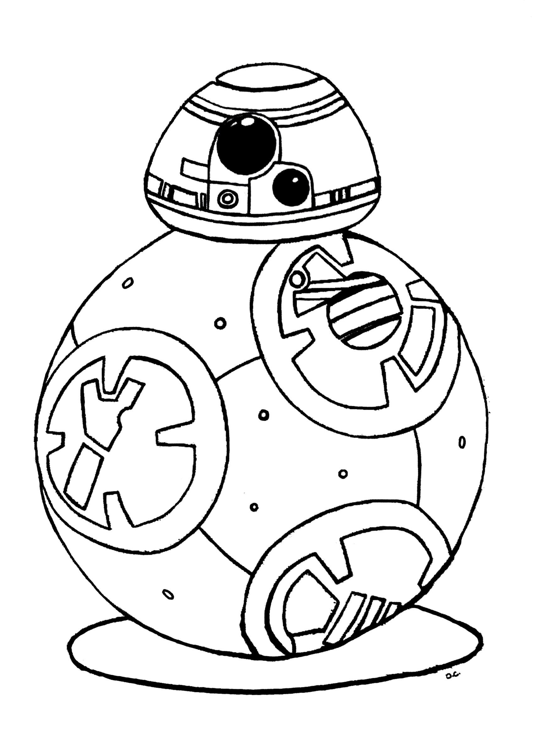 Bb 8 Star Wars 7 Reveil De La Force Robot Bb8 - Coloriage intérieur Star Wars Dessin À Colorier