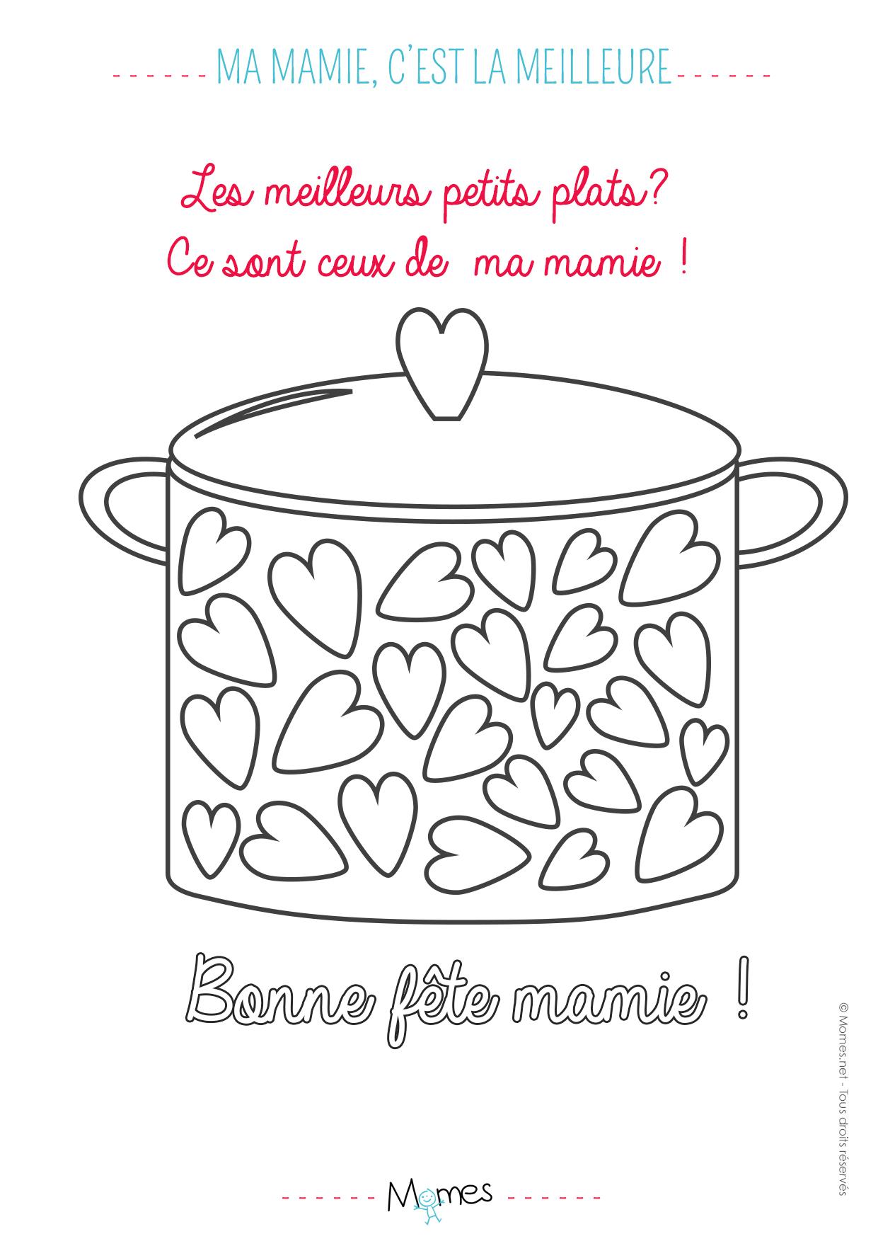 Beau Coloriage A Imprimer Anniversaire Mamie concernant Coloriage Bonne Fete Mamie