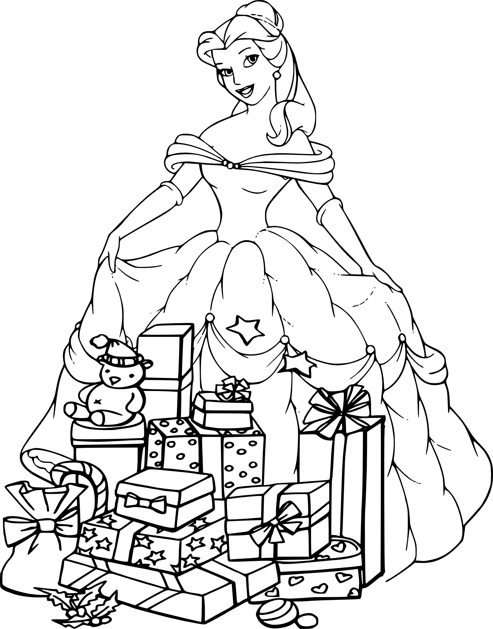 Beau Coloriage A Imprimer Princesse Belle pour Princesse À Colorier À Imprimer