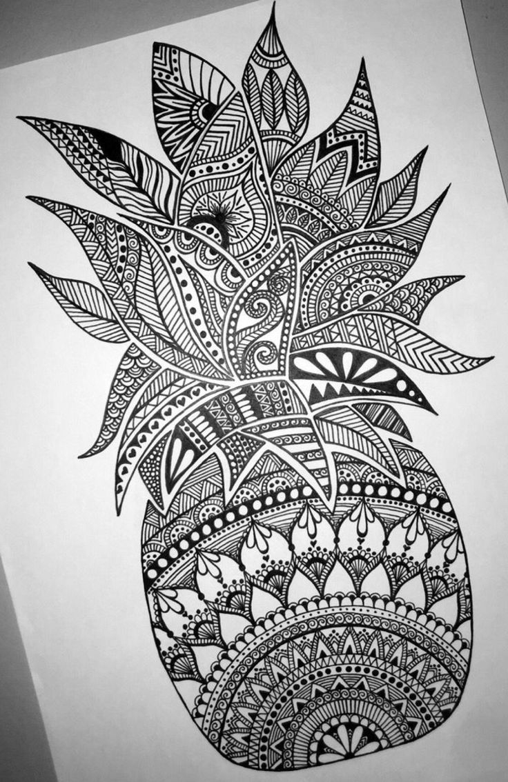 Beautiful Detailed Pineapple Mandala Design-- Perfect For encequiconcerne Coloriag
