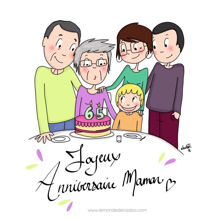 Bel Anniversaire Maman - Illustrations - Le Monde De Nadoo avec Dessin Anniversaire Maman