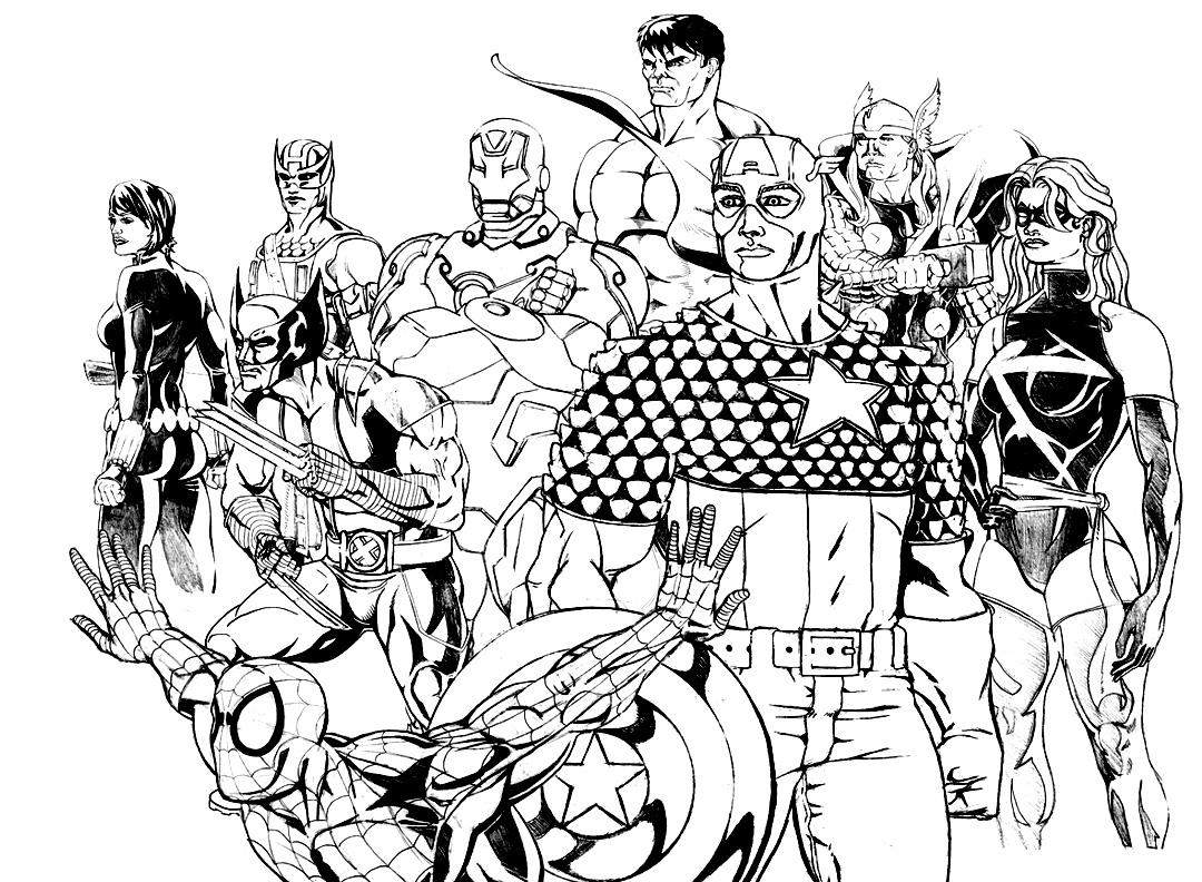 Belle Coloriage Avengers En Ligne | Haut Coloriage Hd dedans Dessin Des Avengers
