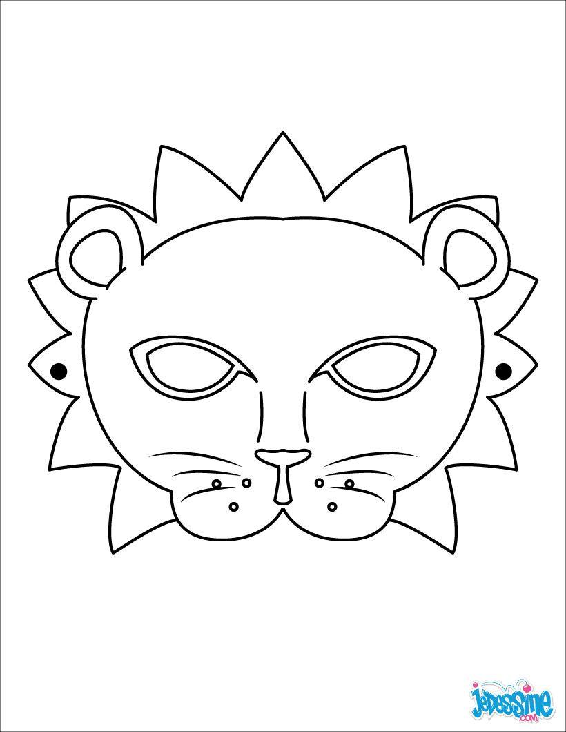 Belle Coloriage Masque Carnaval Maternelle | Des Milliers intérieur Masque Enfant A Imprimer