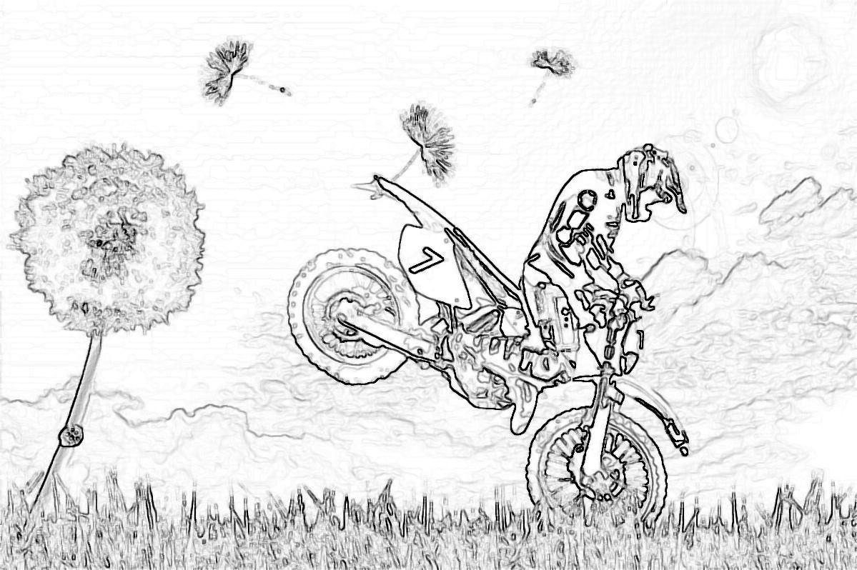 Belle Imprimer Des Coloriage De Moto Cross | Imprimer Et encequiconcerne Coloriage Moto Cross À Imprimer