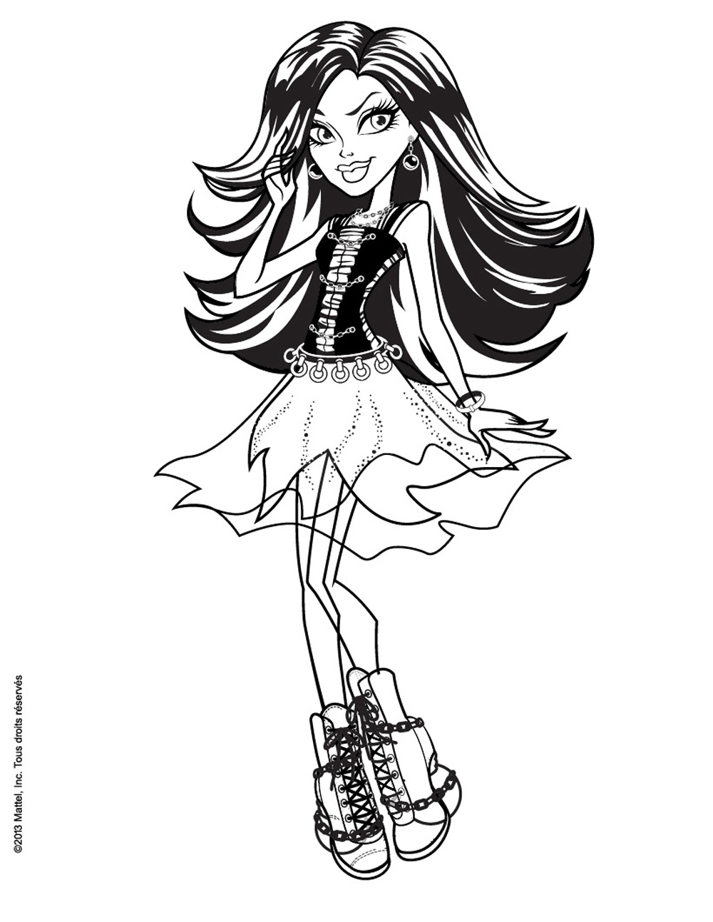 Belle Jeux De Coloriage De Monster High | Imprimer Et dedans Dessin A Imprimer Monster High