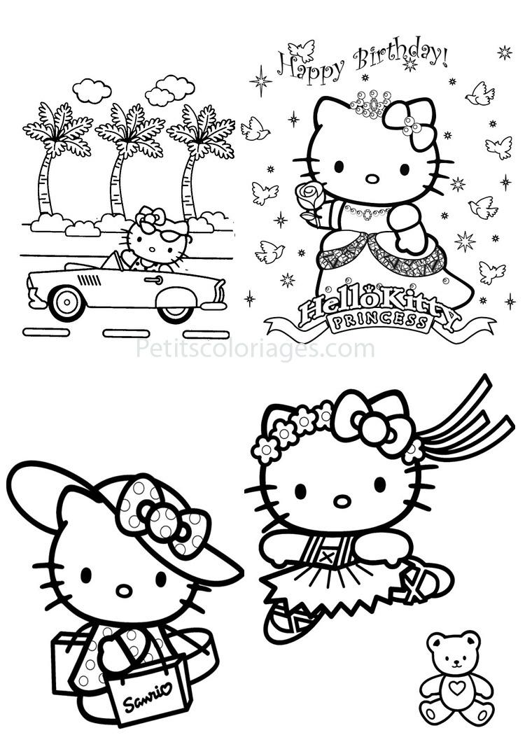 Belle Jeux De Coloriage Hello Kitty | Imprimer Et Obtenir avec Dessin Hello Kitty À Imprimer
