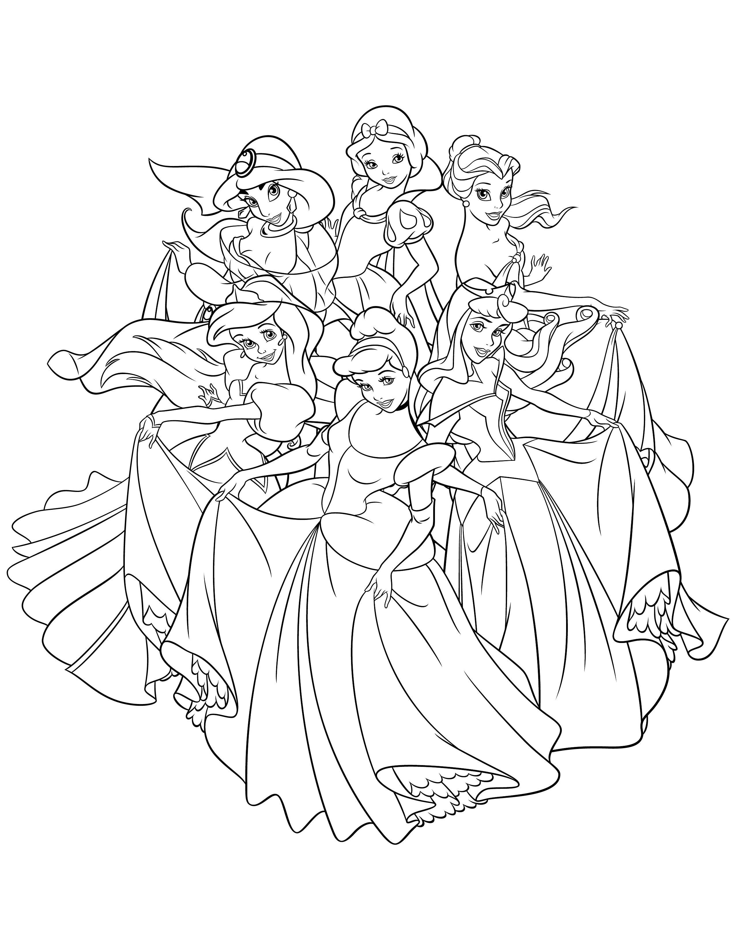 Belle Les Aristochats Coloriage A Imprimer | Des Milliers serapportantà Princesse À Colorier À Imprimer