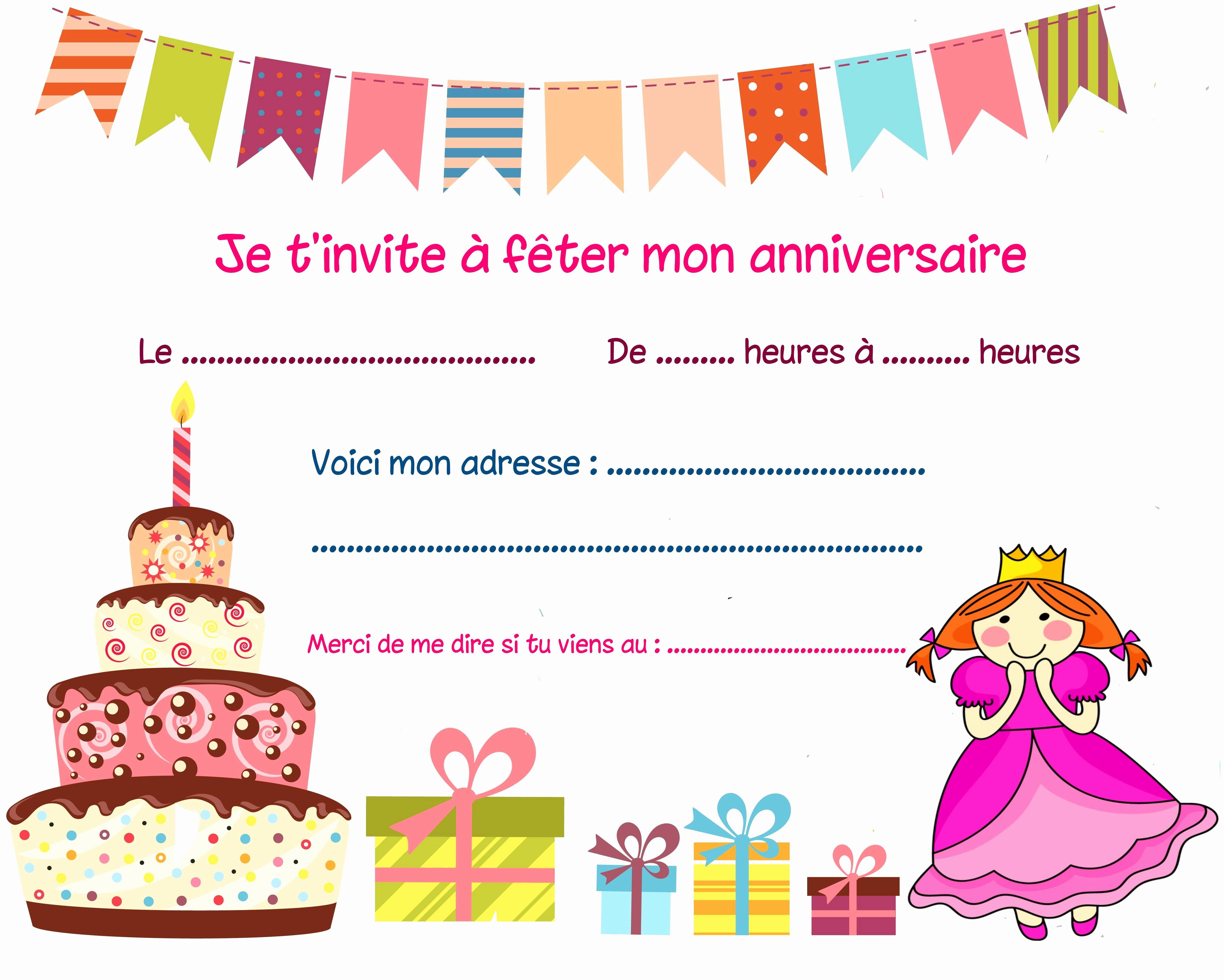 Best Of Invitation Anniversaire Fille 8 Ans A Imprimer destiné Image Anniversaire A Imprimer