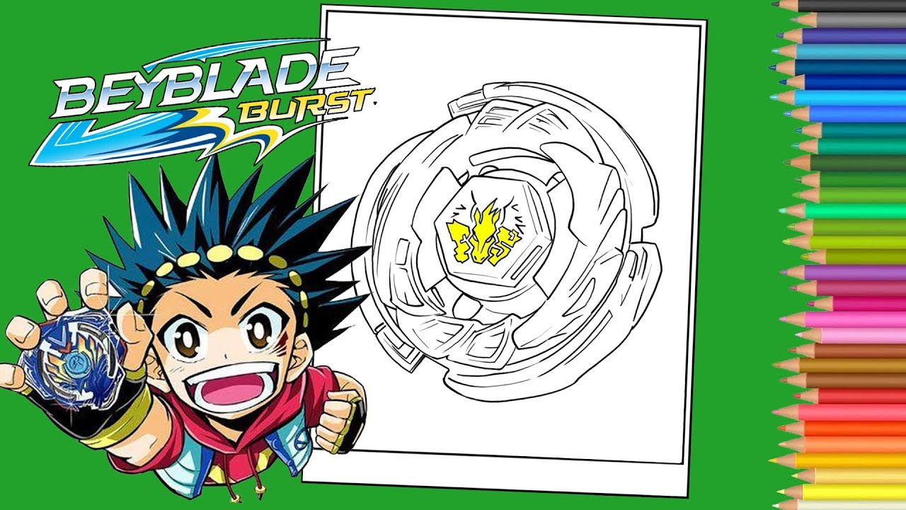 Beyblade Burst Coloring Pages Book - Coloriage Beyblade à Colloriage