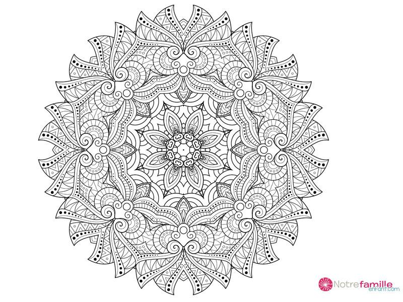 Bien-Être Enceinte: 15 Coloriages Anti-Stress De Mandalas (1) tout Coloriage Mandala Anti Stress