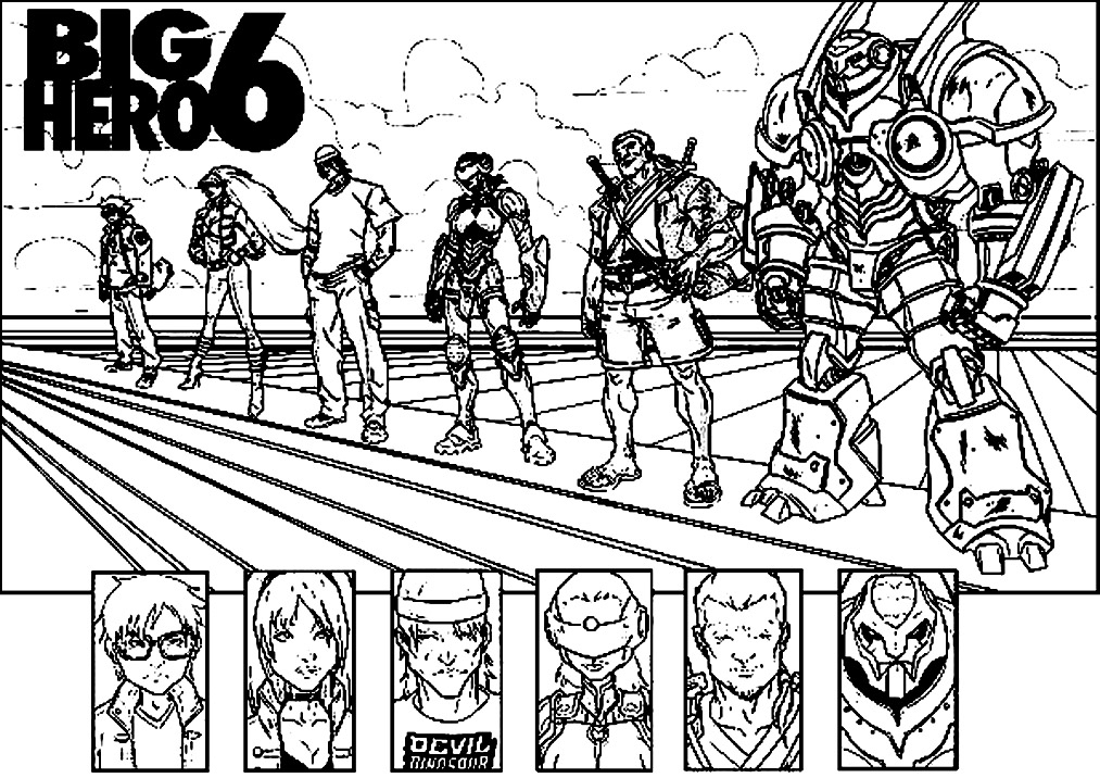 Big Hero 6 To Color For Kids - Big Hero 6 Kids Coloring Pages concernant Coloriage Super Hero