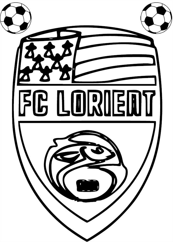 Blason Fc Lorient : Coloriage Fc Lorient À Imprimer concernant Ecusson Des Equipes De Foot