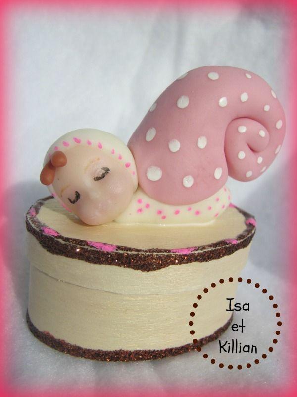 Boite À Dents Bébé Escargot En Porcelaine Froide.. Http à Dents Escargot