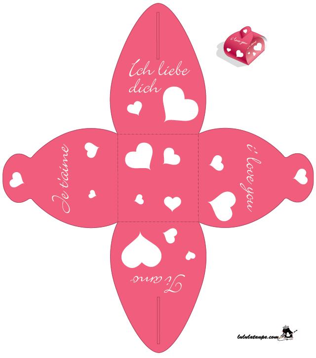 Boite Avec Cœurs À Découper - Lulu La Taupe, Jeux Gratuits pour Decoupage Pour Enfants