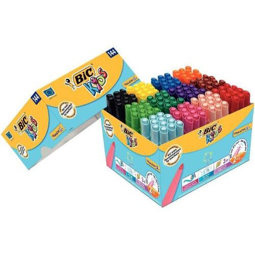 Boîte Carton De 144 Feutres De Coloriage Bic Kids Visacolor Xl concernant Boite De Feutres Coloriage