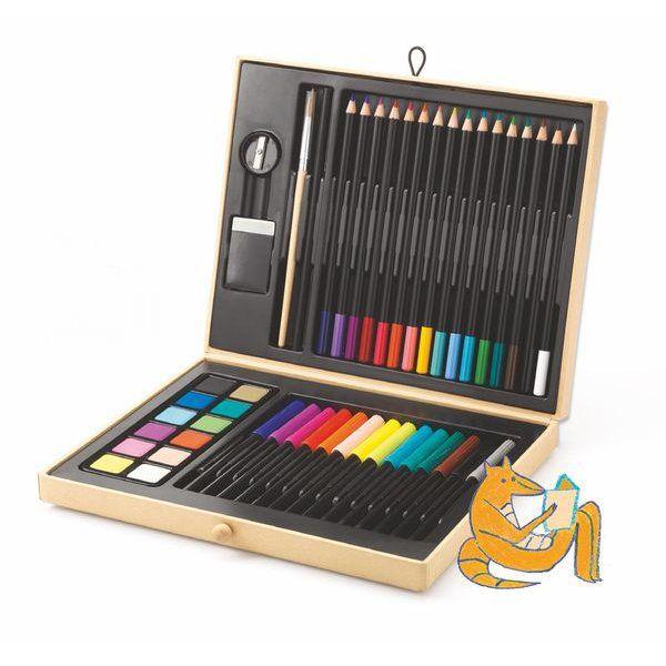 Boite De Couleurs - Djeco | Crayon De Couleur, Crayon pour Boite De Feutres Coloriage