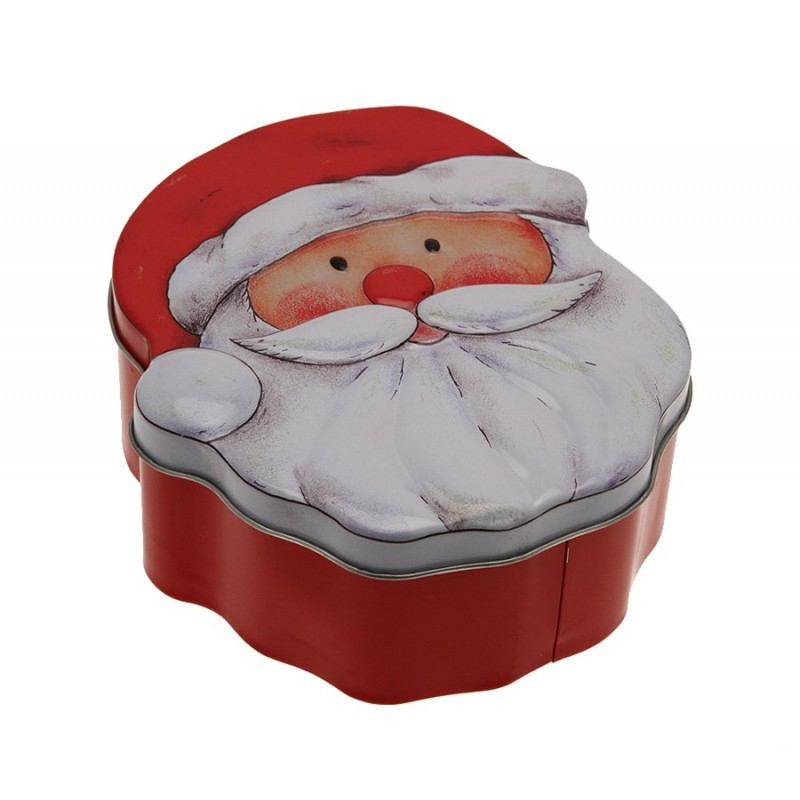 Boite Tete Pere Noel dedans Tete De Pere Noel