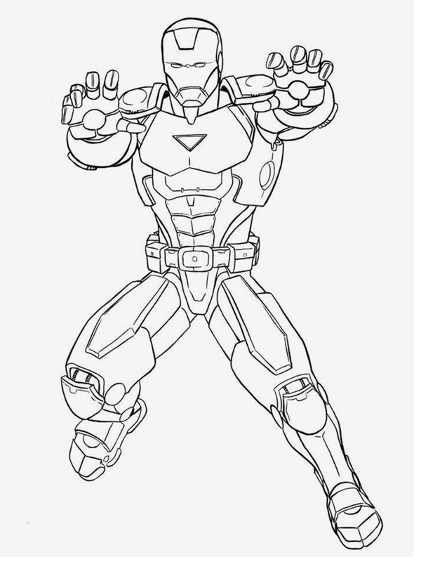 Bojanke Za Decu - Gvozdeni Čovek (Iron Man) concernant Coloriage Iron Man À Imprimer