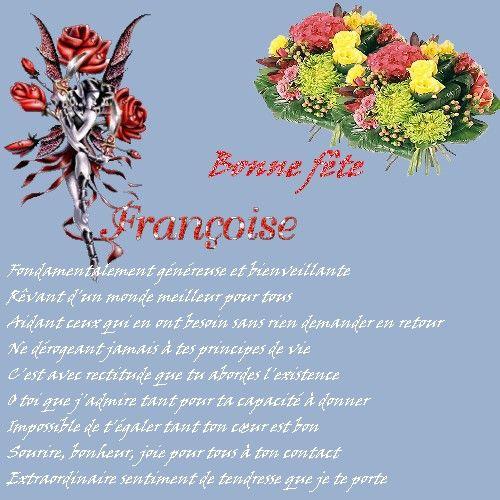 Bonne Fête Françoise - L'Univers De Patounette Et Ses Amis(Es) dedans Bonne Fete Des Pairs Figure