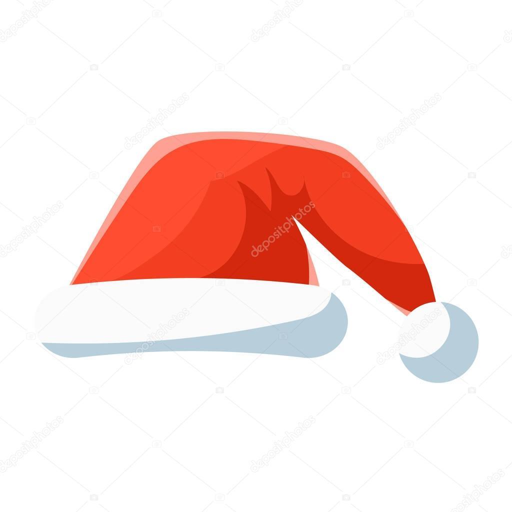 Bonnet Rouge, Symbole De Noël Vector Illustration — Image dedans Symbole Noel