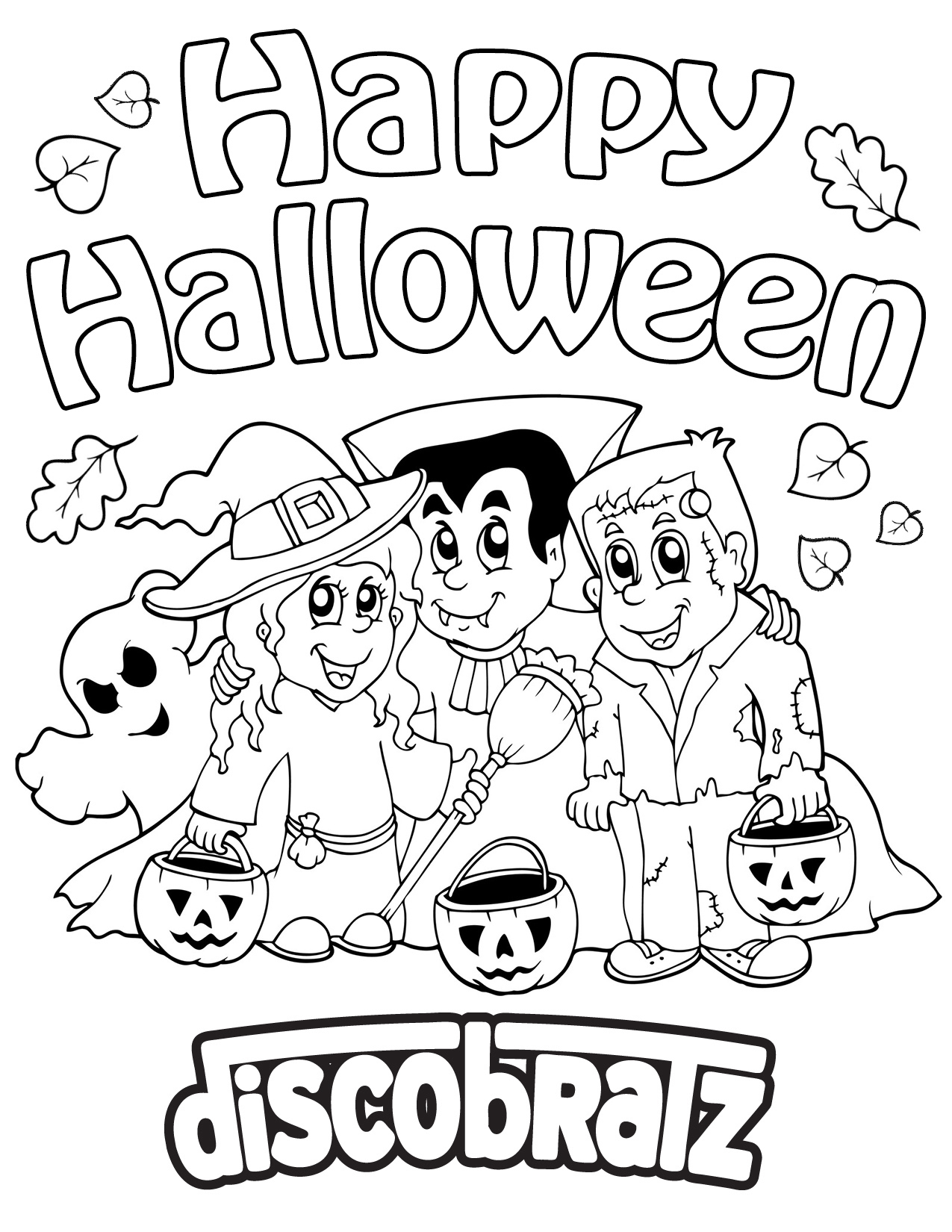Boo! Get In Halloween Spirit With A New Coloring Page From avec Trick Or Treat Coloring Book: Trick Or