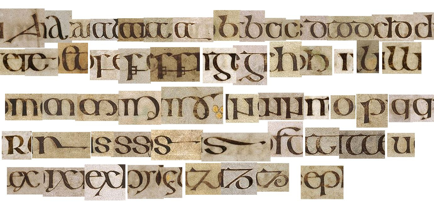 Book Of Kells - Letterforms | Book Of Kells, Calligraphy avec Script In The Book Of Kells Book