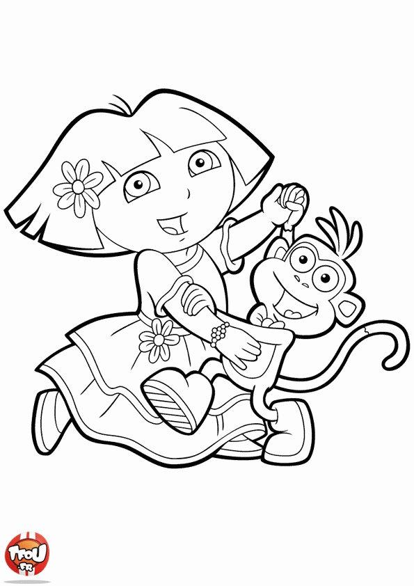 Books Coloring Pages: Dora pour Dessin A Colorier Dora Gratuit A Imprimer