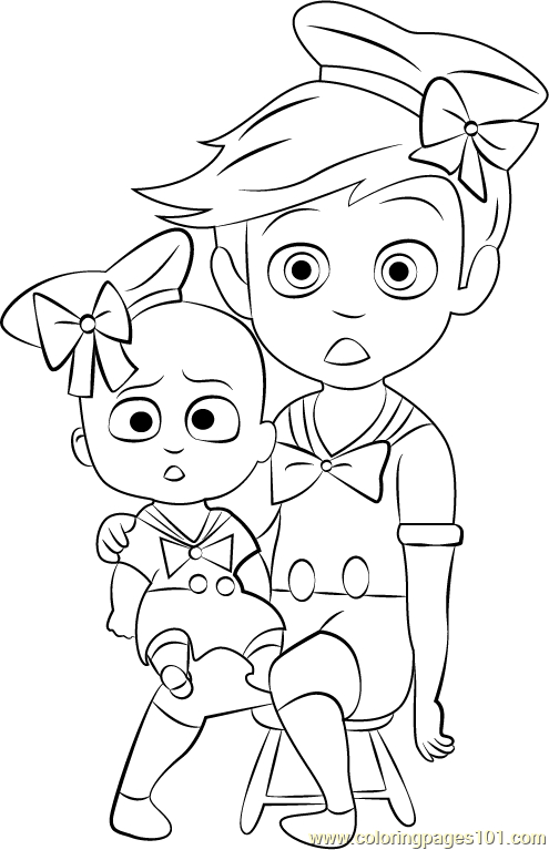 Boss Baby Costume Coloring Page - Free The Boss Baby destiné Coloriage Baby Boss A Imprimer