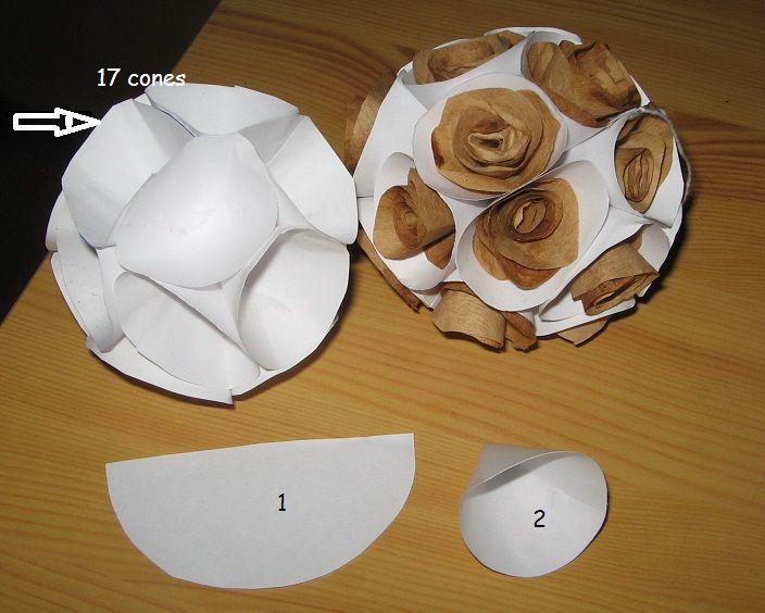 Boule En Papier Avec Des Connes | Boule De Noel encequiconcerne Faire Du Bricolage En Papier