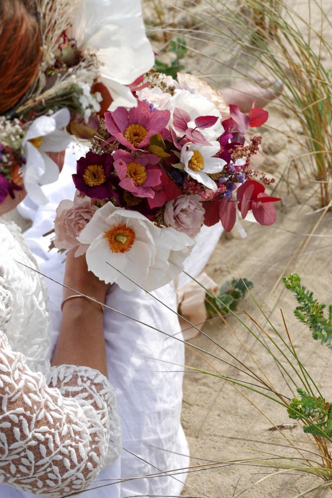 Bouquet Cosmos, Pavots Et Renoncules En Papier - Miluccia intérieur Ma Main Est Une Fleur