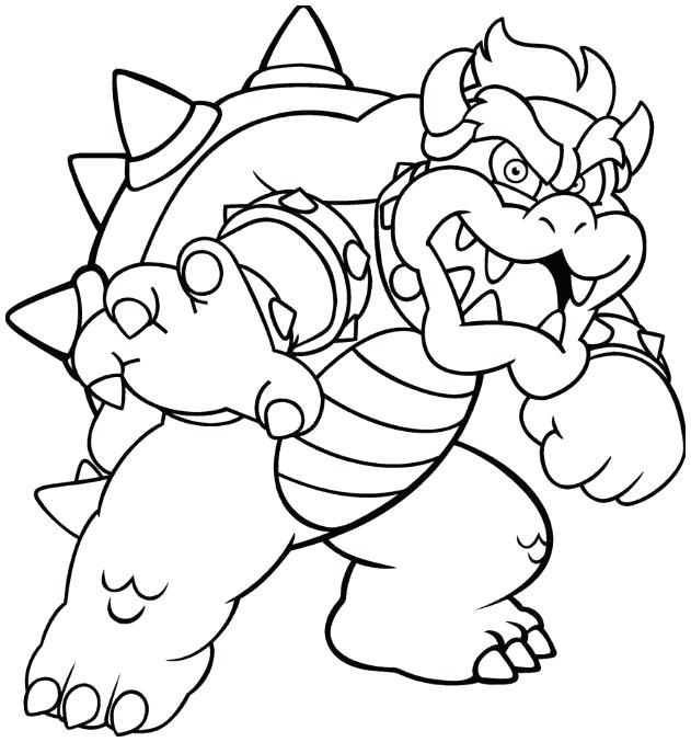 Bowser Coloring Pages | Coloriage, Dessin Et Art Dessin avec Coloriage Bowser