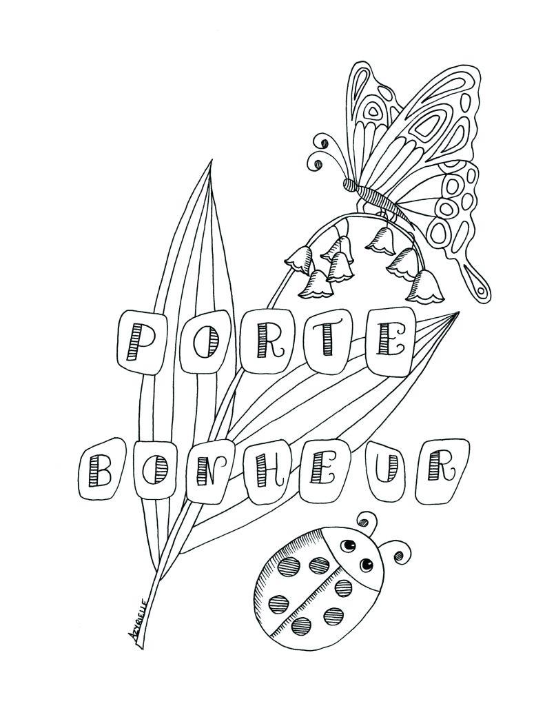 Branche Muguet Porte-Bonheur Par Azyrielle - Artherapie.ca avec Coloriage Muguet Imprimer