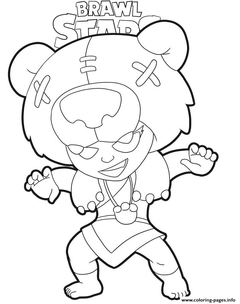 Brawl Stars Nita Coloring Pages Printable serapportantà Coloriage Brawl Stars