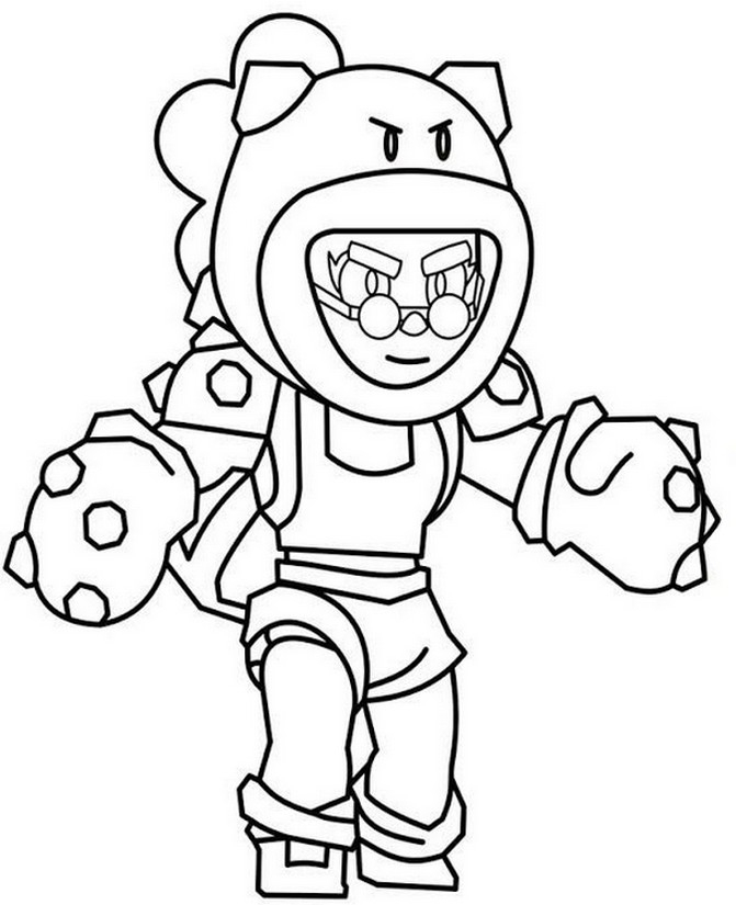 Brawl Stars Personaggi Disegni • Colorare.best serapportantà Coloriage Brawl Stars