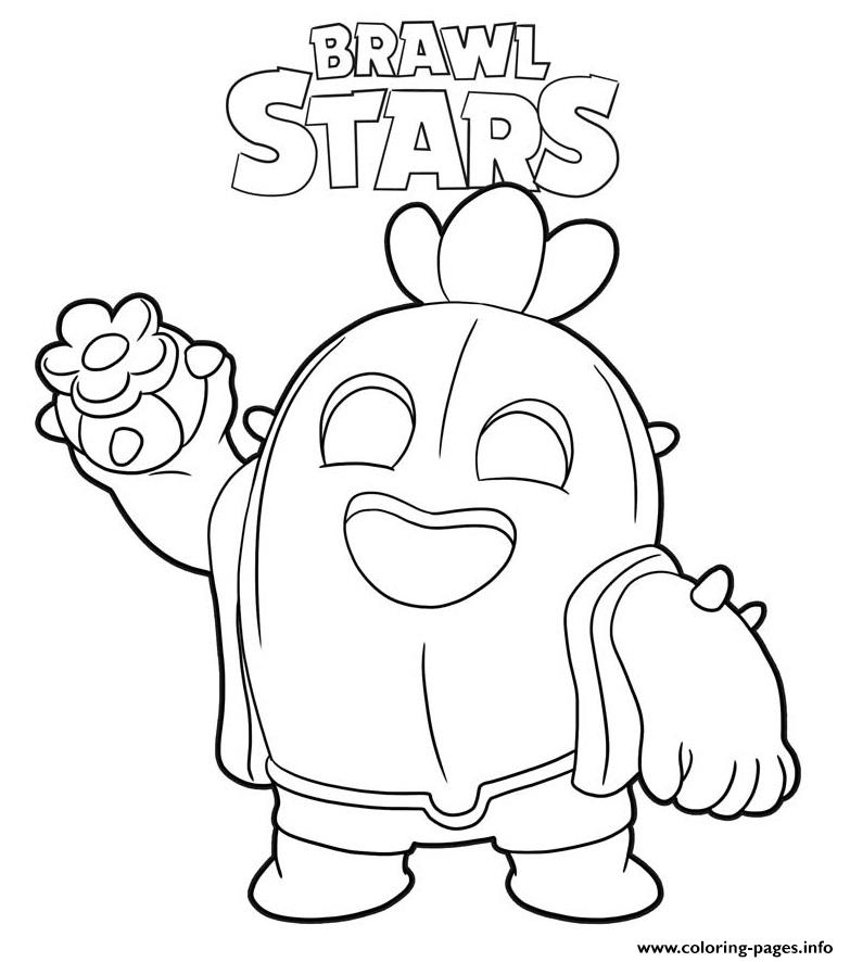 Brawl Stars Spike Coloring Pages Printable encequiconcerne Coloriage Brawl Stars