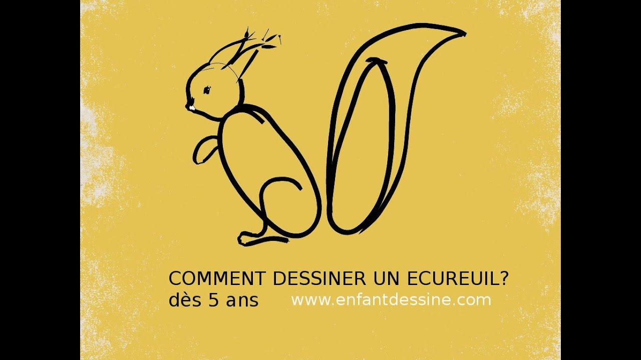 Bricolage D'Automne- Comment Dessiner Un Écureuil ? - pour Comment Dessiner Un Diable Facilement