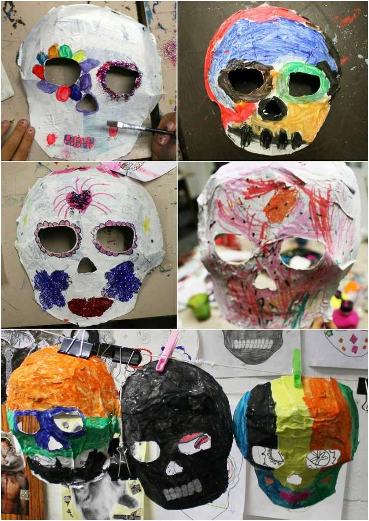 Bricolage Halloween Facile En Papier Mâché –5 Idées Avec à Masque Halloween A Fabriquer